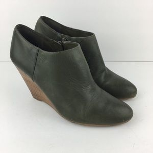 Olive green Wedge Booties from Nine West